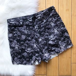 Urban Outfitters BDG High Rise Floral Cutoff Short